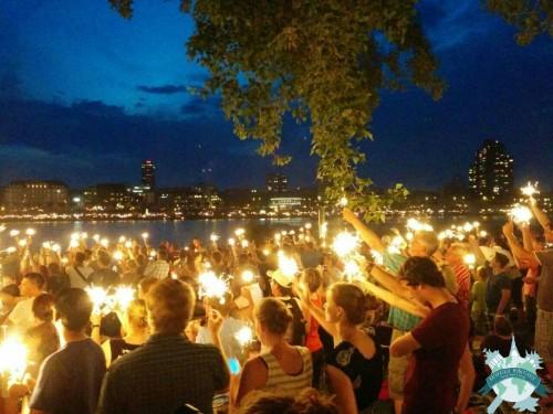 « Kölner Lichter 2014 », fête des lumières à Cologne