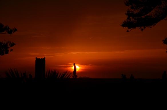 coucher de soleil lumineu - Essaouira - Maroc