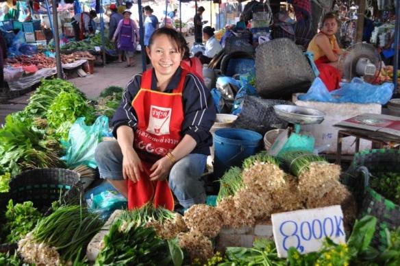 Le marché de Thongkhankham - Où manger local a Vientiane ?