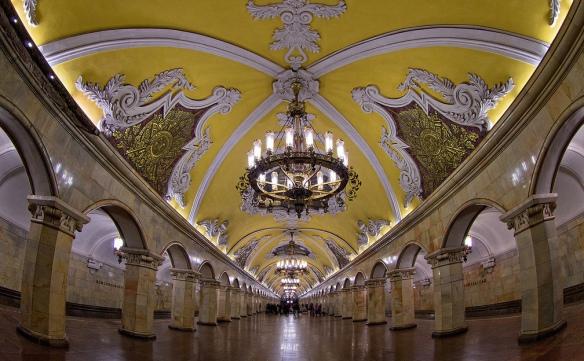 Komsomolskaya (Koltsevaya Line), Moscou - - Les cinq plus belles stations de métro d'Europe