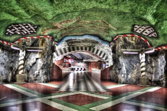 Kungsträdgarden, Stockholm - - Les cinq plus belles stations de métro d'Europe