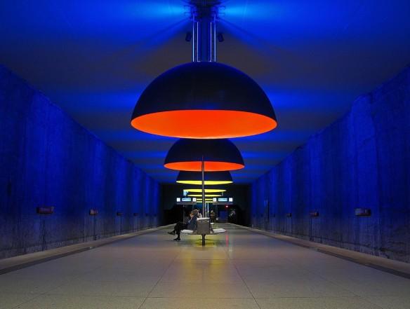 Westfriedhof, Monaco, Munich - - Les cinq plus belles stations de métro d'Europe