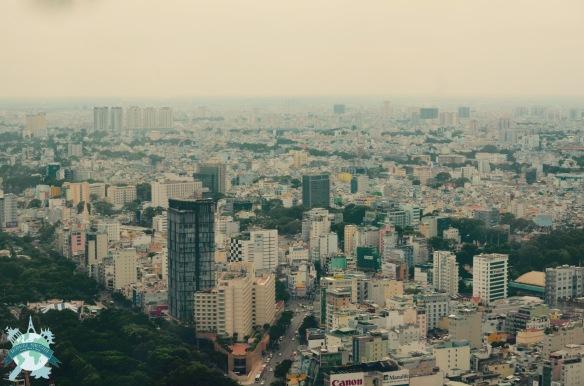 La vue surprenante sur Hô Chi Minh depuis le toit du Saigon Skydeck